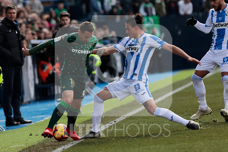 Real Betis Balompie's Jose Andres Guardado during La Liga match between CD Leganes and Real Betis Balompie at Butarque Stadium in Madrid, Spain. February 10, 2019. (ALTERPHOTOS/A. Perez Meca)