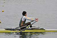 071 WindsorBoysSch J17A.1x..Marlow Regatta Committee Thames Valley Trial Head. 1900m at Dorney Lake/Eton College Rowing Centre, Dorney, Buckinghamshire. Sunday 29 January 2012. Run over three divisions.
