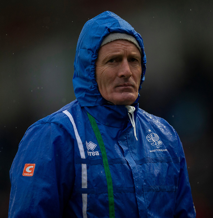 Benetton's Head Coach Kieran Crowley<br /> <br /> Photographer Bob Bradford/CameraSport<br /> <br /> European Rugby Challenge Cup Pool 5 - Harlequins v Benetton Treviso - Saturday 15th December 2018 - Twickenham Stoop - London<br /> <br /> World Copyright © 2018 CameraSport. All rights reserved. 43 Linden Ave. Countesthorpe. Leicester. England. LE8 5PG - Tel: +44 (0) 116 277 4147 - admin@camerasport.com - www.camerasport.com