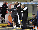 10/11/2007       Copyright Pic: James Stewart.File Name : sct_jspa05_dundee_utd_v_kilmarnock.JIM JEFFRIES AND BILLY BROWN CAN'T BEAR TO WATCH.James Stewart Photo Agency 19 Carronlea Drive, Falkirk. FK2 8DN      Vat Reg No. 607 6932 25.Office     : +44 (0)1324 570906     .Mobile   : +44 (0)7721 416997.Fax         : +44 (0)1324 570906.E-mail  :  jim@jspa.co.uk.If you require further information then contact Jim Stewart on any of the numbers above........