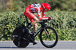 Race leader Chris Froome (GBR) Team Sky in action during Stage 16 of the 2017 La Vuelta, an individual time trial running 40.2km from Circuito de Navarra to Logro&ntilde;o, Spain. 5th September 2017.<br /> Picture: Unipublic/&copy;photogomezsport | Cyclefile<br /> <br /> <br /> All photos usage must carry mandatory copyright credit (&copy; Cyclefile | Unipublic/&copy;photogomezsport)