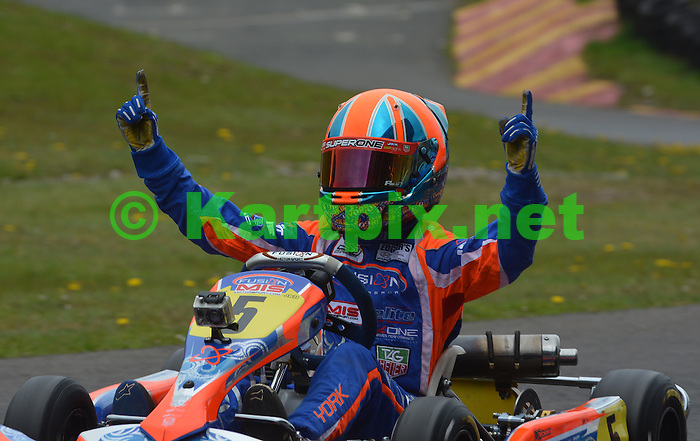 Edgar's Hyundai MSA British Cadet Kart Championship<br /> <br /> Provisional championship standings<br /> 1 Oliver York  160 points<br /> 2 Lewis Thompson  146<br /> 3 Jonny Edgar  144<br /> 4 Kiern Jewiss  137<br /> = Alex Quinn  137<br /> <br /> <br /> Round 1: Rowrah, 18-19 May<br /> <br /> Oliver York delivered a statement of intent in the first round of the season at Rowrah by winning both finals.<br /> <br /> In the first final Teddy Wilson slotted into second but succumbed to Lewis Thompson and fell back to an eventual seventh. Kiern Jewiss stormed up to third after poor heats, ahead of Matthew Graham and Jonny Edgar.<br /> <br /> In the second final Edgar relieved York of the lead on the first lap, but York found a gap in his defences mid-race. William Pettitt and Alex Quinn stormed through the field to finish third and fourth.<br /> <br /> Results  Final 1<br /> 1 Oliver York Zip<br /> 2 Lewis Thompson Zip<br /> 3 Kiern Jewiss Zip<br /> <br /> Final 2<br /> 1 York<br /> 2 Edgar<br /> 3 William Pettitt Zip