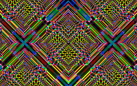Complex multi coloured abstract geometric mosaic pattern