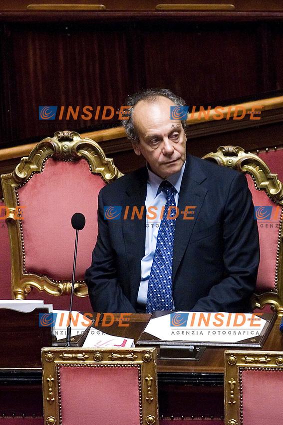 VOTO DI FIDUCIA AL SENATO  SUL DECRETO LEGGE RIGUARDATE IL PROCESSO LUNGO..NELLA FOTO IL MINISTRO DELLA GIUSTIZIA  NITTO PALMA  ..ROMA 29 LUGLIO  2011..PHOTO  SERENA CREMASCHI INSIDEFOTO..............................