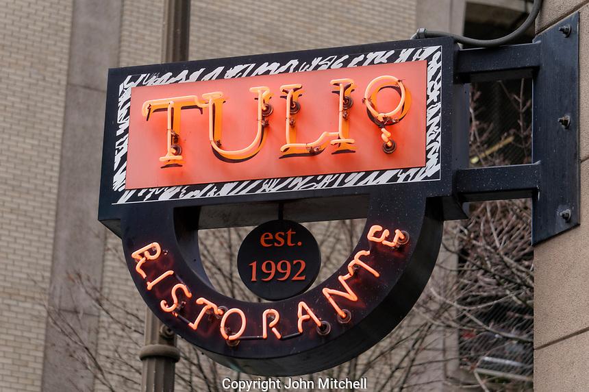 Tulio Ristorante Italian restaurant in downtown Seattle, Washington, USA