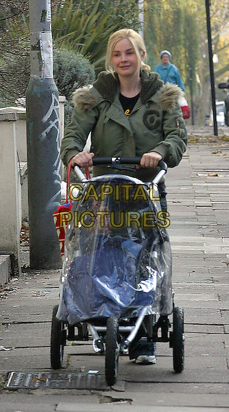 **Picture Exclusive**.GAIL HIPGRAVE PORTER.and baby Honey near their home in Primrose Hill.www.capitalpictures.com.©Capital Pictures.