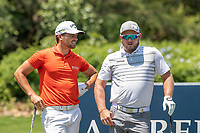 Haydn Porteous (RSA) and Merrick Bremner (RSA) during the 1st round of the Alfred Dunhill Championship, Leopard Creek Golf Club, Malelane, South Africa. 28/11/2019<br /> Picture: Golffile | Shannon Naidoo<br /> <br /> <br /> All photo usage must carry mandatory copyright credit (© Golffile | Shannon Naidoo)