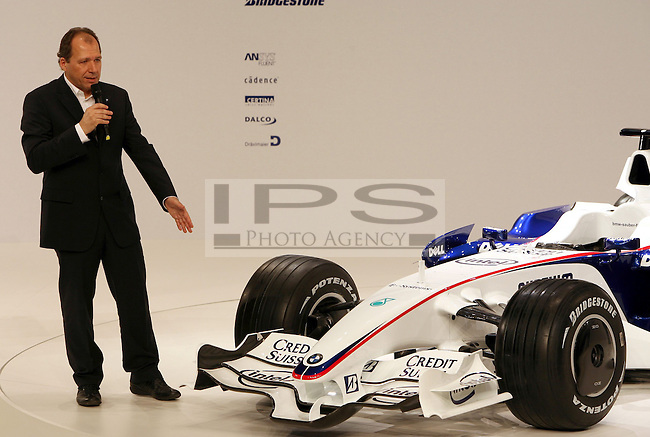 ©Jad Sherif/WRI2/TEAMSHOOT - Munich Germany 14/01/2008 ; BMW Sauber F1.08 Launch 14/01/08 ; Willy Rampf (CH), technical director chassis, BMW-Sauber F1 Team. BMW Welt Munich....***************************************..GERMANY, AUSTRALIA, FINLAND,..ITALY and SWITZERLAND OUT..***************************************..© MaxPPP / IPS PHOTO AGENCY ..ONLY UK..FOR ANY INFO'S PLEASE CONTACT:..IPS photo..21 Delisle rd.. London SE28 0JD..TEL 004420883310207..FAX 00442088551037..Mob: 00447973308835....ONLY UK ONLY UK ONLY UK ONLY UK ..
