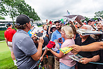 CROMWELL, CT. 19 June 2019-061919 - PGA Tour player and fan favorite Phil Mickelson takes time after his round of golf to sign some autographs for the fans, during the Travelers Championship Pro-am day at the TPC River Highlands in Cromwell on Wednesday. Bill Shettle Republican-American