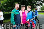 l-r  Paudie Griffin, Dimphna Griffin and Eoin Griffin enjoying  the 'Step For Smiles' charity walk in aid of cancer awareness charity the Marie Keating Foundation on Sunday in Tralee Town Park