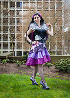 Raven Queen Cosplay, Sakura Con 2017, Seattle, Washington, USA.
