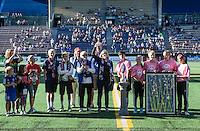 Seattle, WA - Saturday July 23, 2016: Pre-game ceremony prior to a regular season National Women's Soccer League (NWSL) match between the Seattle Reign FC and the Orlando Pride at Memorial Stadium.