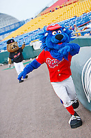 July 2nd, 2010 Omaha Mascotts in action during MiLB play between the Iowa Cubs and the Omaha Royals. Iowa Cubs won 5-3 at Rosenblatt Stadium, Omaha Nebraska.