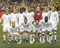 Starting eleven of the USA MNT during an international friendly match against Colombia at PPL Park, on October 12 2010 in Chester, PA. The game ended in a 0-0 tie.