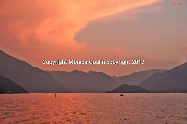 Sunset on Lake Como as seen from Bellagio