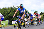 Dan Martin (Garmin Sharp) passing by The Covert Bar during the Irish National Men's Elite Road Race Championships held over an undulating course featuring 9 laps centered around the village of Multyfarnham, Co.Westmeath, Ireland. 29th June 2014.<br /> Picture: Eoin Clarke www.newsfile.ie