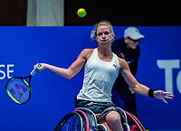 Alphen aan den Rijn, Netherlands, December 15, 2018, Tennispark Nieuwe Sloot, Ned. Loterij NK Tennis, Womans wheelchair final : Winner Dide de Groot (NED)<br />