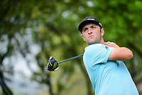 Jon Rahm (ESP) watches his tee shot on 8 during round 3 of the World Golf Championships, Dell Technologies Match Play, Austin Country Club, Austin, Texas, USA. 3/24/2017.<br /> Picture: Golffile | Ken Murray<br /> <br /> <br /> All photo usage must carry mandatory copyright credit (&copy; Golffile | Ken Murray)