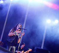 Singer Malu performs during Valladolid Latino music festival in valladolid, Spain. June 29, 2013. (Victor J Blanco/Alterphotos) ©NortePhoto