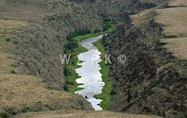 Rio Grande River, Taos County, New Mexico. June 2014