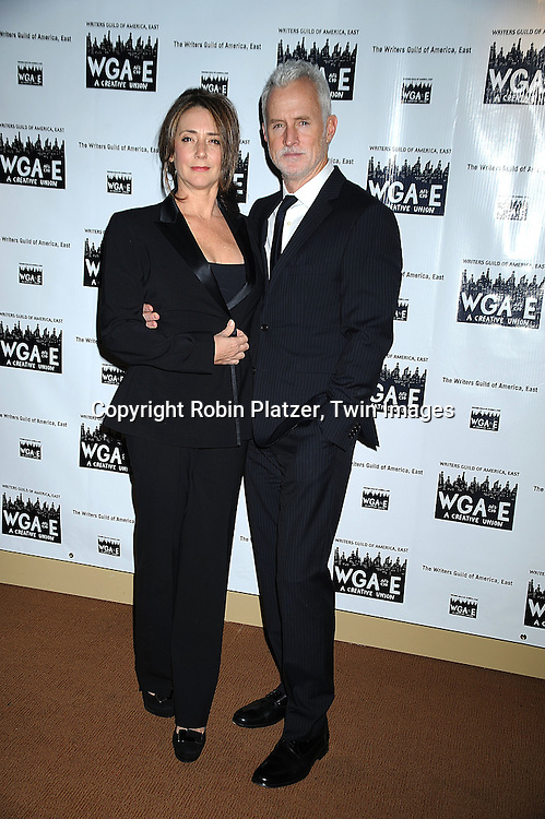 Talia Balsam and husband John Slattery..attending The 61st Annual Writer's Guild Awards on February 7, 2009 at The Hudson Theatre at The Millennium Broadway Hotel in New York City.....Robin Platzer, Twin Images