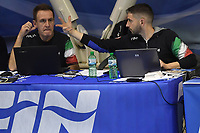 Massimo CICERCHIA, Luca SANSONETTI FIN <br /> Roma 04-01-2019 Centro Federale  <br /> Final Six Pallanuoto Donne Coppa Italia Quarti di finale <br /> SIS Roma - Kally NC Milano<br /> Foto Andrea Staccioli/Deepbluemedia/Insidefoto