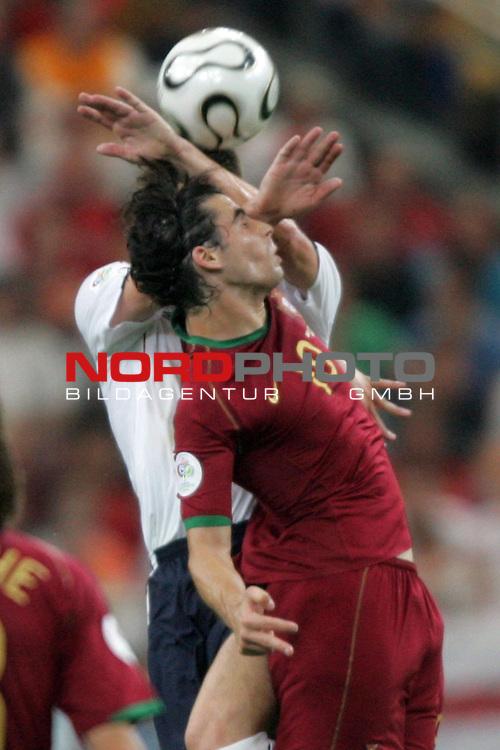 FIFA WM 2006 -  Quarter Finals / Viertelfinale<br /> Play   #59  (30-Jun) - England - Portugal<br /> <br /> Tiago (vorne) von Portugal im Kopfball Duell mit John Terry (hinten) von England.<br /> <br /> Foto &copy; nordphoto