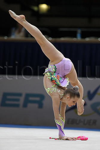 17 04 2010  Laura Young ger during Juniors Rhythmic Gymnastics European Championships 2010 in Bremen 17 04 2010 women
