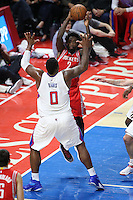 02/22/15 Los Angeles, CA: Houston Rockets guard Patrick Beverley #2 in action against the Los Angeles Clippers during an NBA game played at Staples Center.