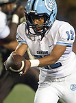 Torrance, CA 10/02/15 - Jaja Bellinger (Carson #12) in action during the Carson-West Torrance CIF varsity football game at West Torrance High School.  Carson defeated West Torrance 34-27.