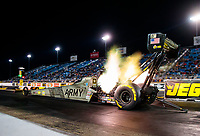 Jun 1, 2018; Joliet, IL, USA; NHRA top fuel driver Tony Schumacher during qualifying for the Route 66 Nationals at Route 66 Raceway. Mandatory Credit: Mark J. Rebilas-USA TODAY Sports