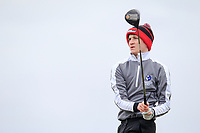 Thomas Higgins (Roscommon) on the 10th tee during the Final Round of the Connacht U18 Boys Open 2018 on Carne Golf Links at Belmullet Golf Club on Sunday 6th April 2018.<br /> Picture:  Thos Caffrey / www.golffile.ie<br /> <br /> All photo usage must carry mandatory copyright credit (&copy; Golffile | Thos Caffrey)