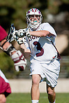 Los Angeles, CA 03/16/10 - Thomas Holman (LMU # 3) in action during the Chico State-Loyola Marymount University MCLA interdivisional game at Leavey Field (LMU).  LMU defeated Chico State 7-4.