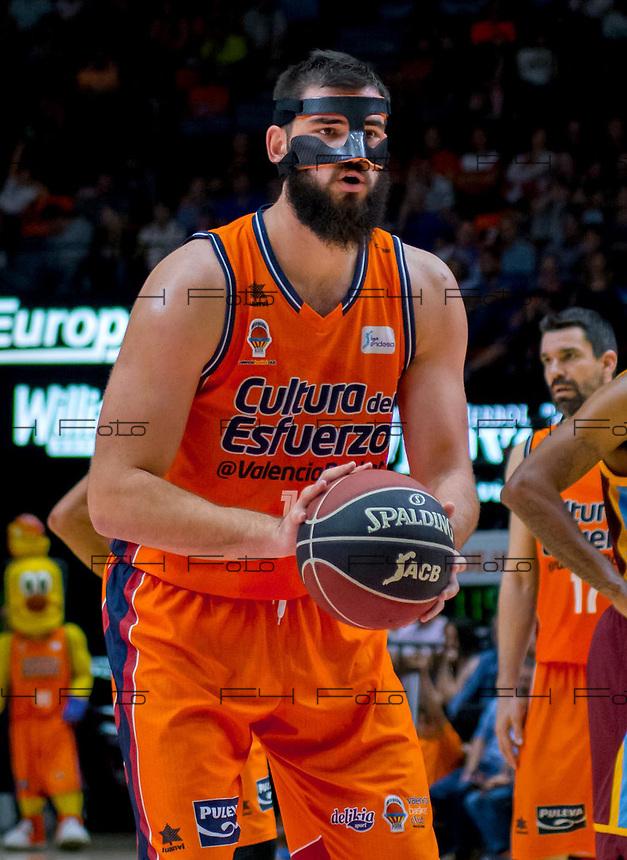 VALENCIA, SPAIN - 29/10/2017. Temporada 2017-2018,  Liga Endesa Jornada 6, Valencia Basket vs Gran Canaria, Pabellon Fuente de San Luis, Valencia, Spain.