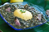 "Kallaloo Cruzan cuisine ""West Indian local dishes"""