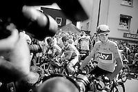 Chris Froome (GBR): mediamagnet at the start<br /> <br /> Tour de France 2013<br /> stage 12: Fougères - Tours 218km