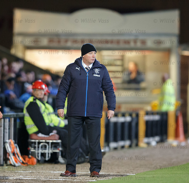 Ally McCoist transfixed by the smell of hot dogs drifting over New Bayview