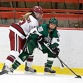 Kalley Armstrong (Harvard - 13), Jenna Hobeika (Dartmouth - 6) - The visiting Dartmouth College Big Green defeated the Harvard University Crimson 3-2 on Wednesday, November 23, 2011, at Bright Hockey Center in Cambridge, Massachusetts.