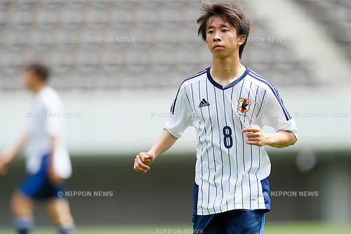 Takeaki Harigaya (JPN), <br /> APRIL 18, 2017 - Football / Soccer : <br /> U-20 Japan National team training match <br /> between U-20 - JEF United Chiba <br /> in Chiba, Japan. <br /> (Photo by Yohei Osada/AFLO SPORT)