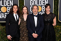 LOS ANGELES, CA. January 06, 2019: Peter Farrelly, Melinda Kocsis  & Family at the 2019 Golden Globe Awards at the Beverly Hilton Hotel.<br /> Picture: Paul Smith/Featureflash