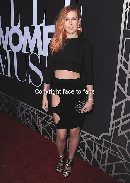 HOLLYWOOD, CA - APRIL 22: Rumer Willis at ELLE 5th Annual Women in Music at Avalon on April 22, 2014 in Hollywood, California.PGSK/MediaPunch<br />