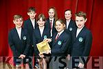 Student Council from Scoil Eoin Balloonagh announce this year's School Spirit Award on Friday. Pictured Cian O'Shea, Jessica Griffin, Labhraidh Costello, Sean Barrett, sean Hill, Jade Egar and Ellen Riordan