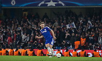 Branislav Ivanovic of Chelsea plays a pass during the UEFA Champions League Round of 16 2nd leg match between Chelsea and PSG at Stamford Bridge, London, England on 9 March 2016. Photo by Andy Rowland.