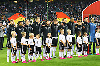 Deutsche Nationalmannschaft bei der Hymne - 06.09.2019: Deutschland vs. Niederlande, Volksparkstadion Hamburg, EM-Qualifikation DISCLAIMER: DFB regulations prohibit any use of photographs as image sequences and/or quasi-video.
