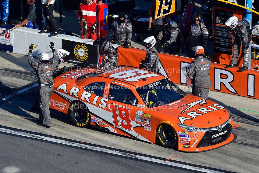 19-20 February, 2016, Daytona Beach, Florida USA<br /> Daniel Suarez, ARRIS Toyota Camry makes a pit stop.<br /> &copy;2016, F. Peirce Williams