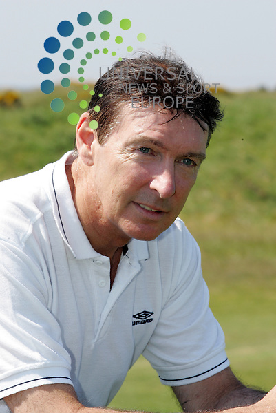 Gordon Smith.Tommy Burns Masters golf fund raisin . tournament in aid of the Tommy Burns Skin Cancer Trust played over the Dundonald links. Picture: Universal News And Sport (Scotland) 25 May 2012.