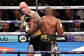 24th March 2018, O2 Arena, London, England; Matchroom Boxing, WBC Silver Heavyweight Title, Dillian Whyte versus Lucas Browne; Dillian Whyte attacks Lucas Browne during the early stages of the fight