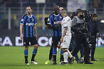 Romelu Lukaku of Inter shakes hands with fellow Belgian International team mate Radja Nainggolan of Cagliari after the final whistle of the Coppa Italia match at Giuseppe Meazza, Milan. Picture date: 14th January 2020. Picture credit should read: Jonathan Moscrop/Sportimage