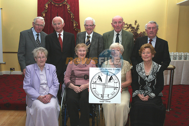 Members from the first decade of St Brigid's Drama Group, John Dalton, Owen Rafferty, Sean O' Doherty, Hugh O'Donnell, John Ryle, Nancy Mangan, Clare O'Doherty, Nancy Mulligan and Evelyn Byrne at the groups 60th Anniversary in the Boyne Valley Hotel...Photo NEWSFILE/Jenny Matthews.(Photo credit should read Jenny Matthews/NEWSFILE)....This Picture has been sent you under the condtions enclosed by:.Newsfile Ltd..The Studio,.Millmount Abbey,.Drogheda,.Co Meath..Ireland..Tel: +353(0)41-9871240.Fax: +353(0)41-9871260.GSM: +353(0)86-2500958.email: pictures@newsfile.ie.www.newsfile.ie.FTP: 193.120.102.198.