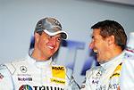 Motorsport: DTM Vorstellung  2008 Duesseldorf<br /> <br /> Ralf Schumacher und Bernd Schneider hatten bei bei der Praesentation in Duesseldorf auf der Pressekonferenz.<br /> <br /> <br /> Foto © nph (nordphoto)<br /> <br /> <br /> <br /> <br />  *** Local Caption ***